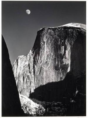 Moon and Half Dome by Ansel Adams (1941)