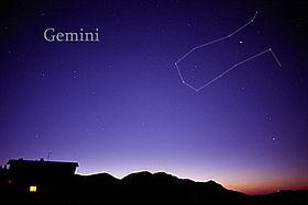 Gemini in sky