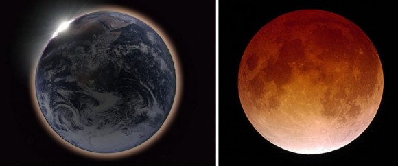 Lunar Eclipse--Two Perspectives (EarthSky)