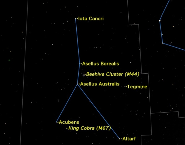Cancer Sky Map (Space.com)