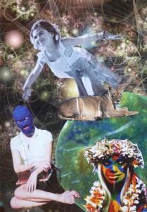 Aquarius Full Moon (collage by Emily)