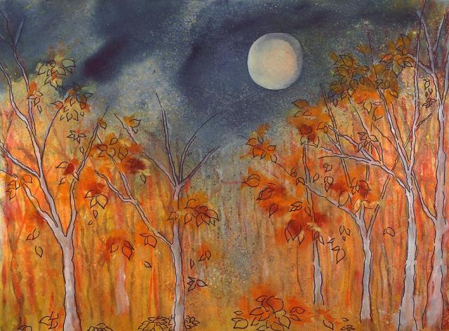 Full Hunter's Moon (October) by Robin Samiljan