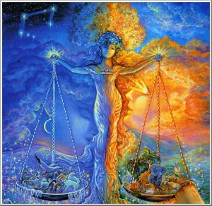 Libra (by Josephine Wall)
