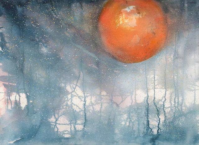 Lunar Eclipse I (by Robin Samiljan)