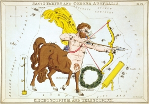 Sagittarius (Urania's Mirror, by Sidney Hall)
