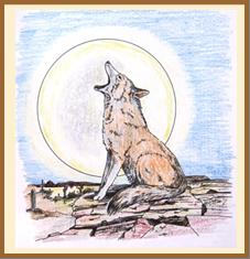 Coyote in full moon (cosmicdream)