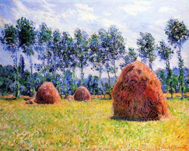 Haystacks at Giverny (1884)