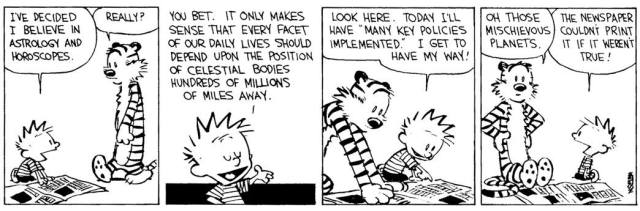 Calvin and Hobbes on Astrology
