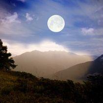 Full moon over mountain (californiapsychics)