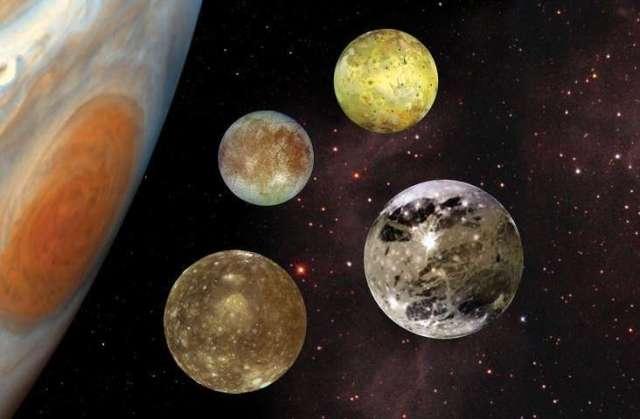 4 Largest Jovian moons