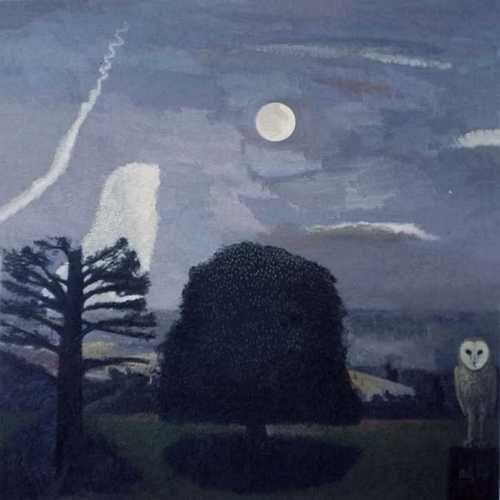 Moon, Chestnut Tree and an Owl (David Inshaw)