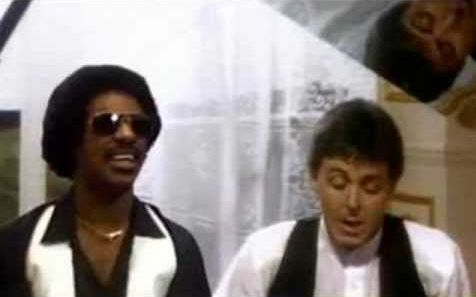 """Ebony and Ivory"" by Paul McCartney, recorded with Stevie Wonder (1982)"